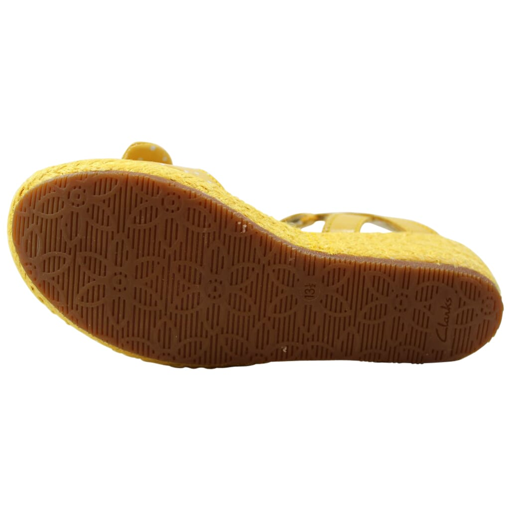 Clarks Harpy Rita Yellow Leather Pre-School Details about  / 26107467
