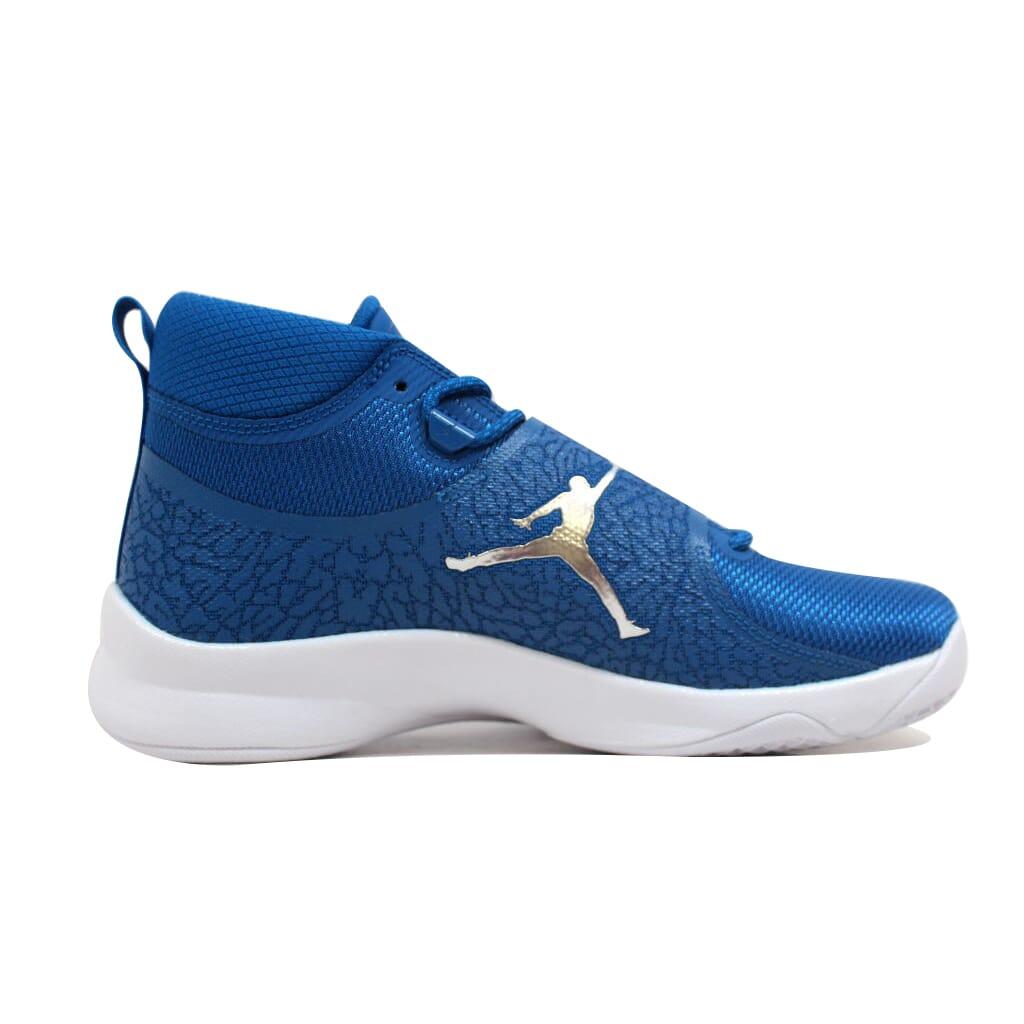 Nike Air Jordan Super Fly 5 PO Team Royal//Metallic Silver 881571-406 Mens