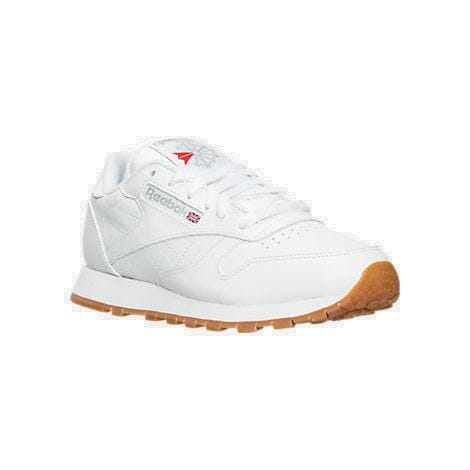 women's reebok classic leather gum casual shoes white/gum