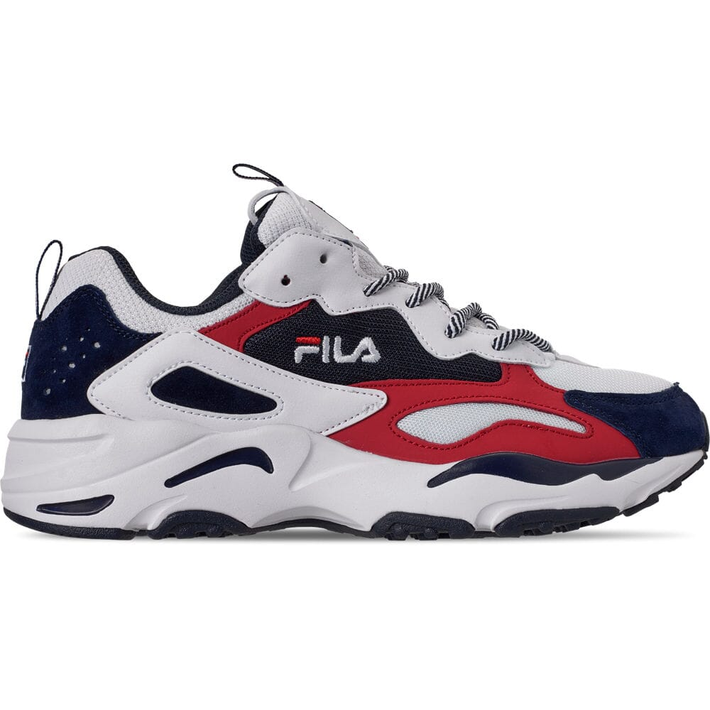 Details about Men's FILA Ray Tracer Americana Casual Shoes WhiteFila NavyFila Red 1RM00724 1