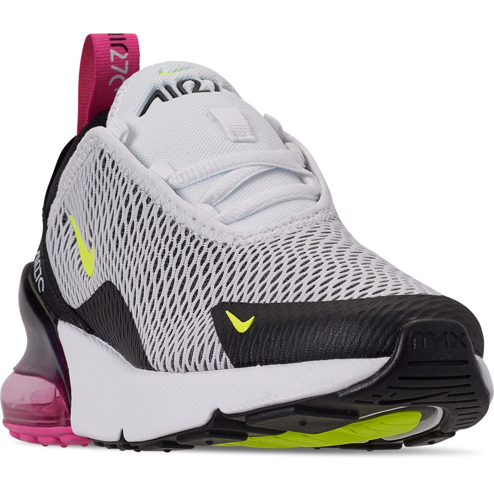 Details about Little Kids' Nike Air Max 270 Casual Shoes WhiteVoltBlackLaser Fuchsia AO2372