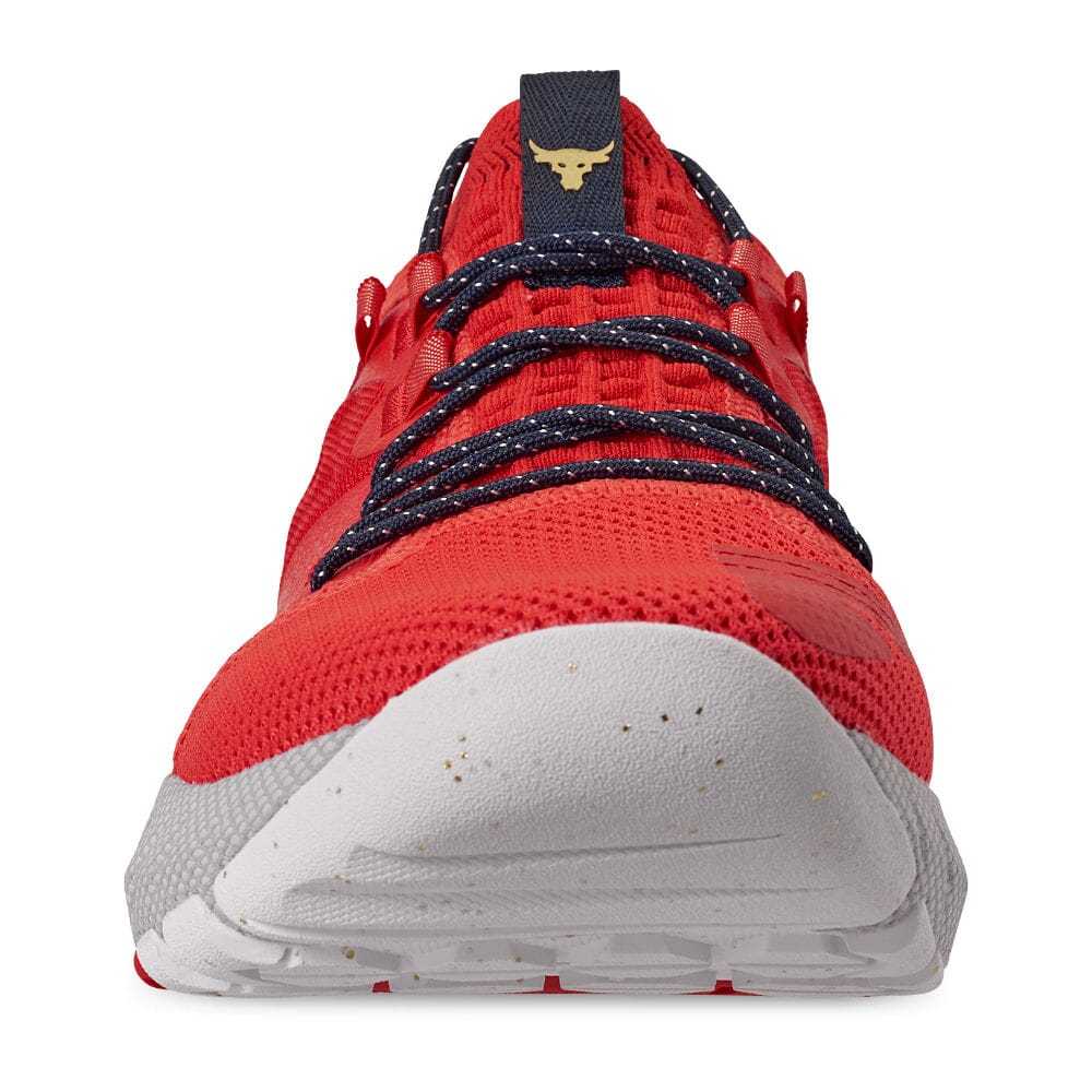 Under Armour Project The Rock 2 Blood Orange Training Shoe Anthem Red//Halo Grey