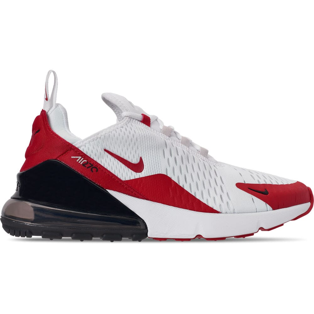 Details about Men's Nike Air Max 270 Casual Shoes WhiteUniversity RedVast Grey CJ0550 100 Si
