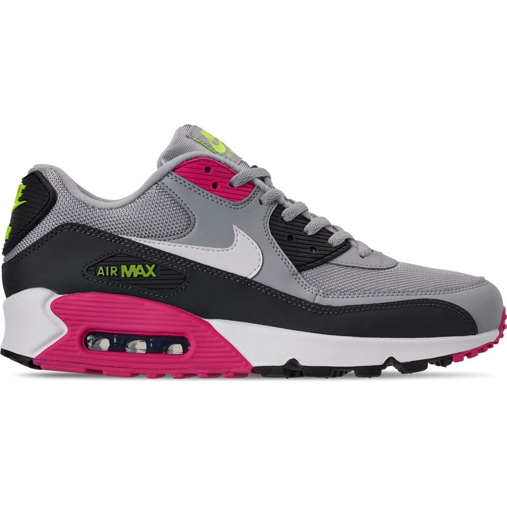 Details about Men's Nike Air Max 90 Essential Casual Shoes Wolf GreyWhiteRush PinkVoltAnth