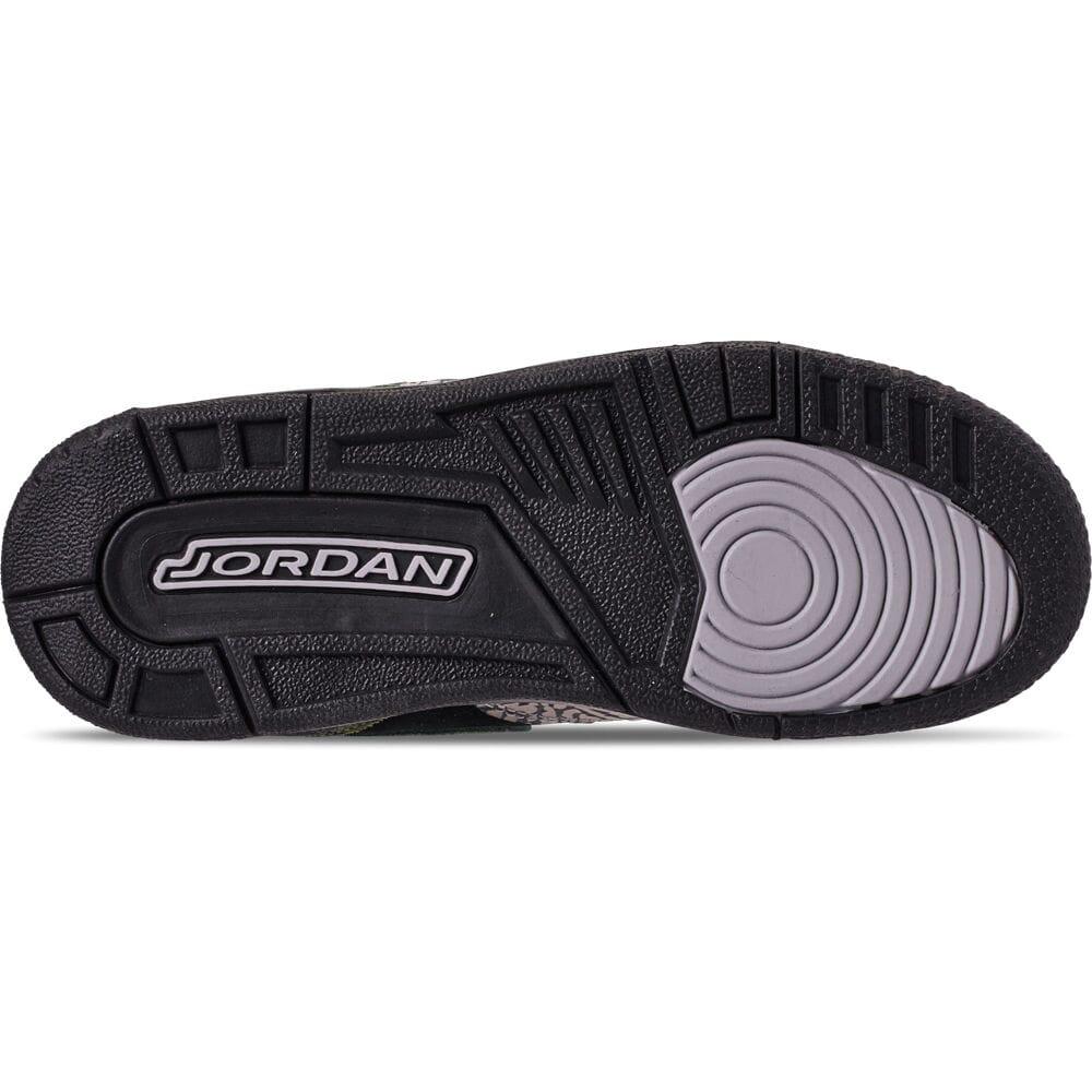 Big KIds/' Air Jordan Legacy 312 Off-Court Shoes Black//Camo Green//Volt AT4040 003