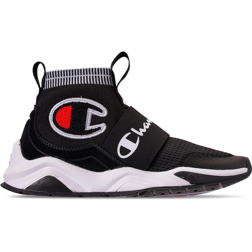 Boys/' Big Kids/' Champion Tank Grid Nubuck Mid Athletic Sneakers Boots Black P100