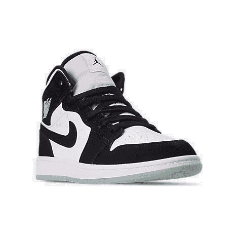 boys' little kids' air jordan 1 mid se casual shoes white