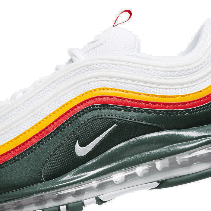 Details about Men's Nike Air Max 97 SE Casual Shoes WhiteDynamic YellowEvergreen CK0224 100