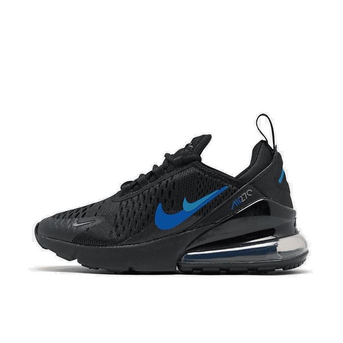 El sendero Búsqueda Armonioso  Big Kids' Nike Air Max 270 Casual Shoes Black Blue Hero/Hyper Royal CT6016  001 S | eBay