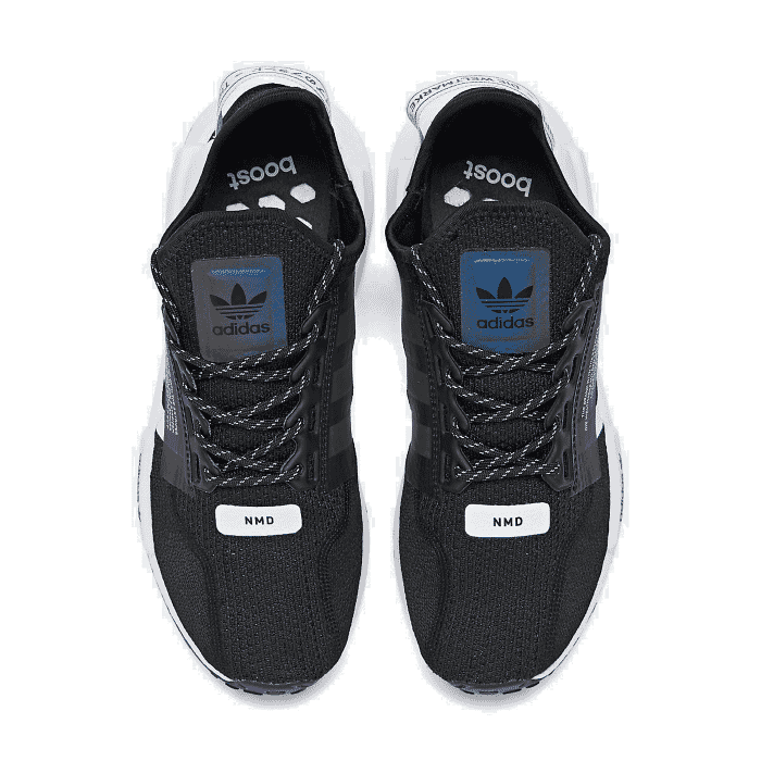Para Hombre Adidas Zapatos Informales Nmd R1 V2 Negro Blanco Core