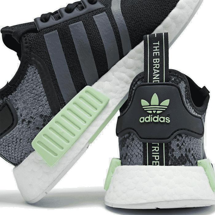 Men S Adidas Nmd Runner R1 Casual Shoes Core Black Grey Six Glow