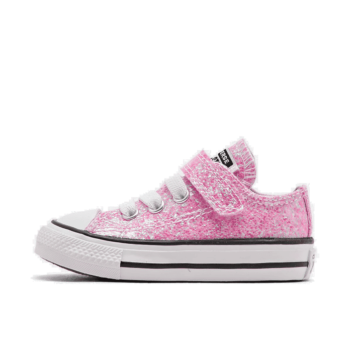 Details about Girls' Toddler Converse Chuck Taylor All Star Coated Glitter Hook and Loop Casua