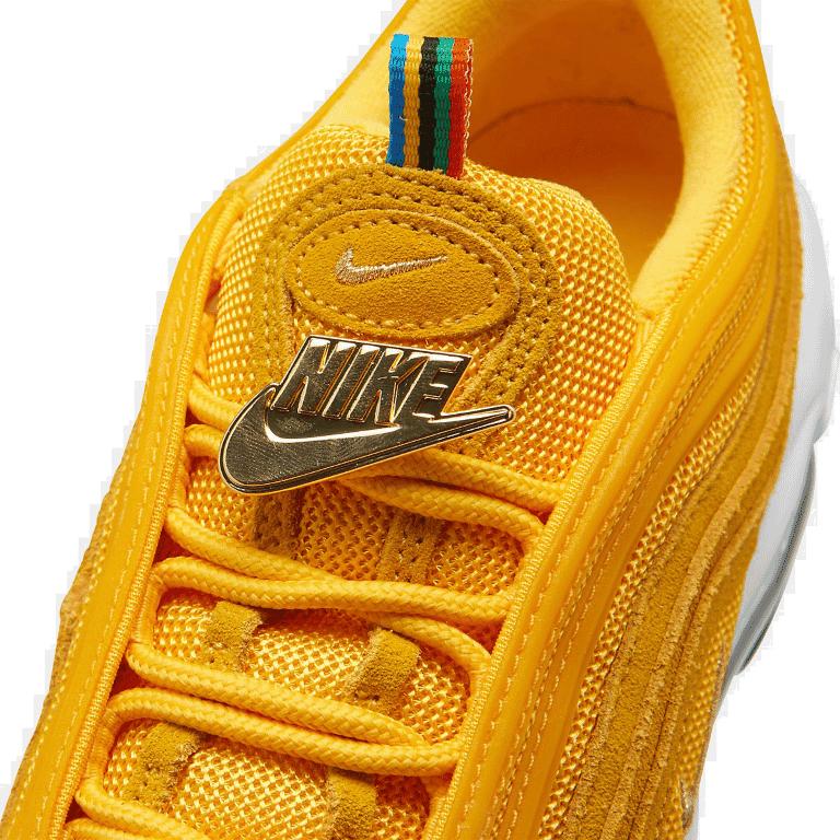 Men S Nike Air Max 97 Casual Shoes Amarillo White Black Metallic