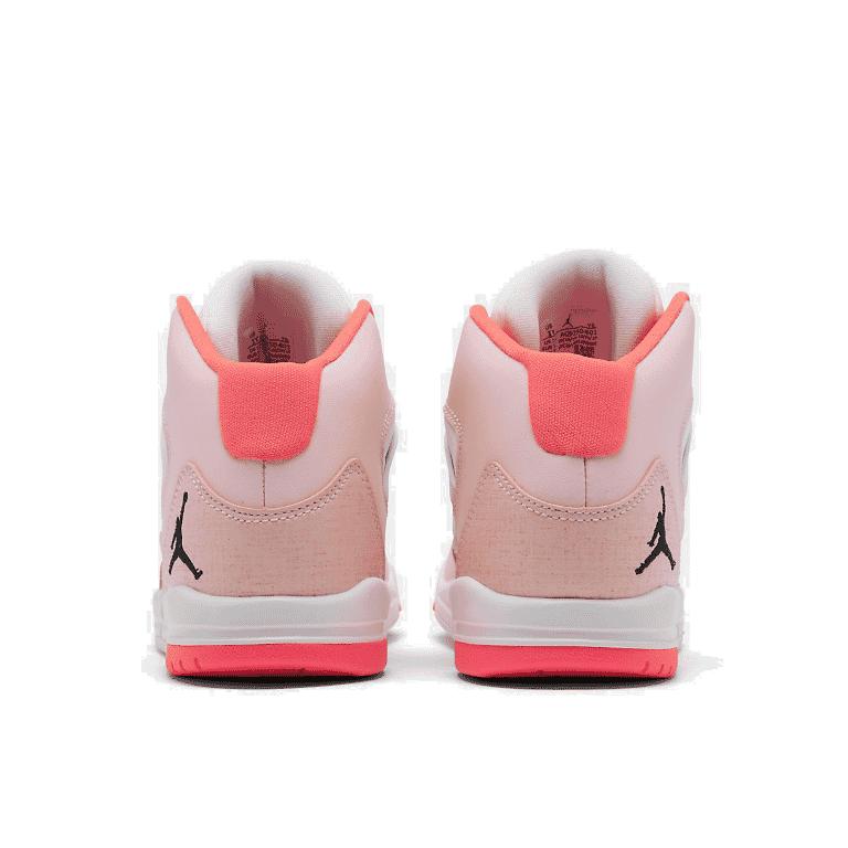 Girls/' Little Kids/' Jordan Max Aura Basketball Shoes Pink Foam//Black//White//Digit