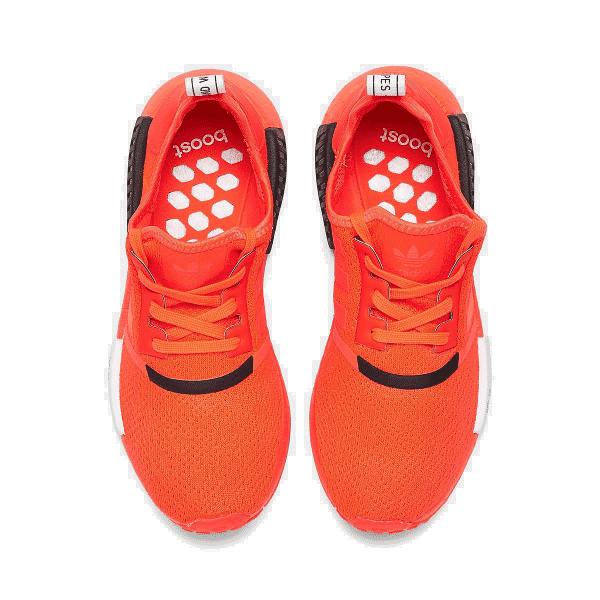 Men S Adidas Nmd R1 Stlt Primeknit Casual Shoes Solar Red Core Black Cloud White Ebay