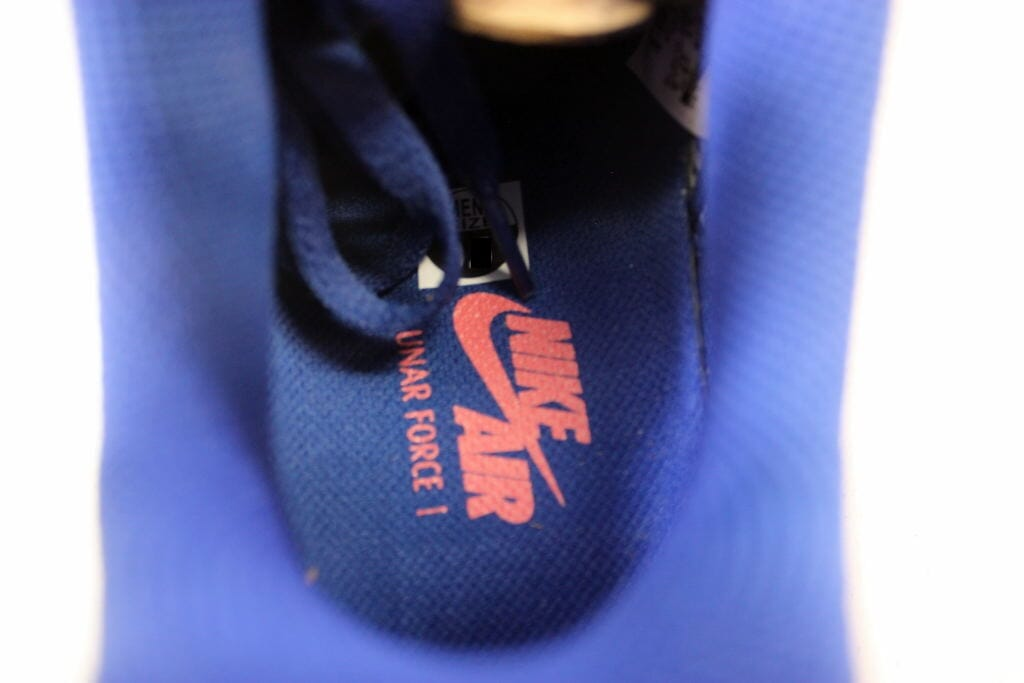 promo code 61a35 ef500 Nike Lunar Force 1 Fuse Leather Wolf Grey Royal Blue-Atomic Red 599839-001  SZ 8