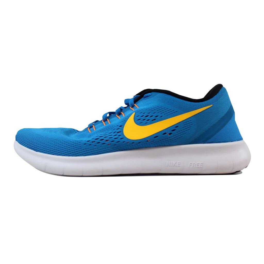 cffb1ae028907 Nike Free RN Heritage Cyan Laser Orange-Black-Blue Spark 831508-402 Men s  SZ 10