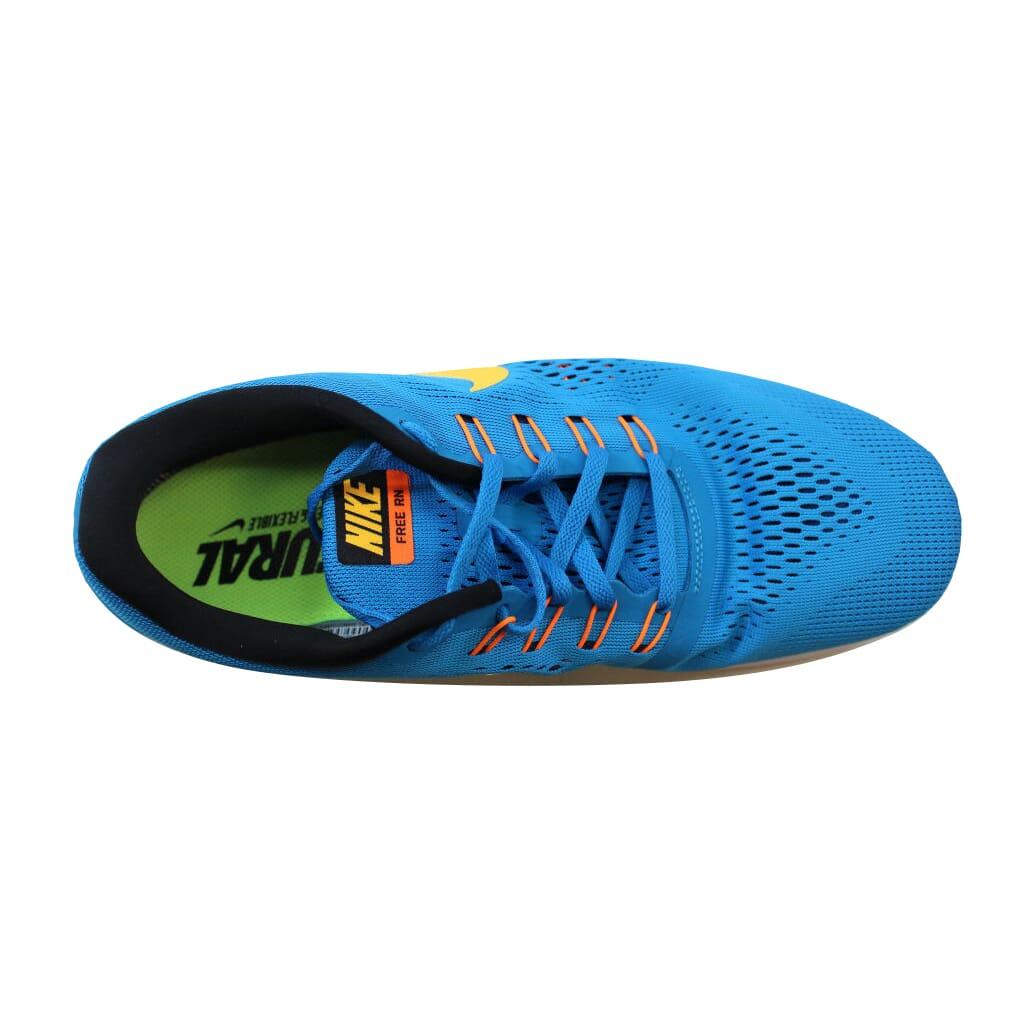 69278b367fdf5 Nike Free RN Heritage Cyan Laser Orange-Black-Blue Spark 831508-402 ...