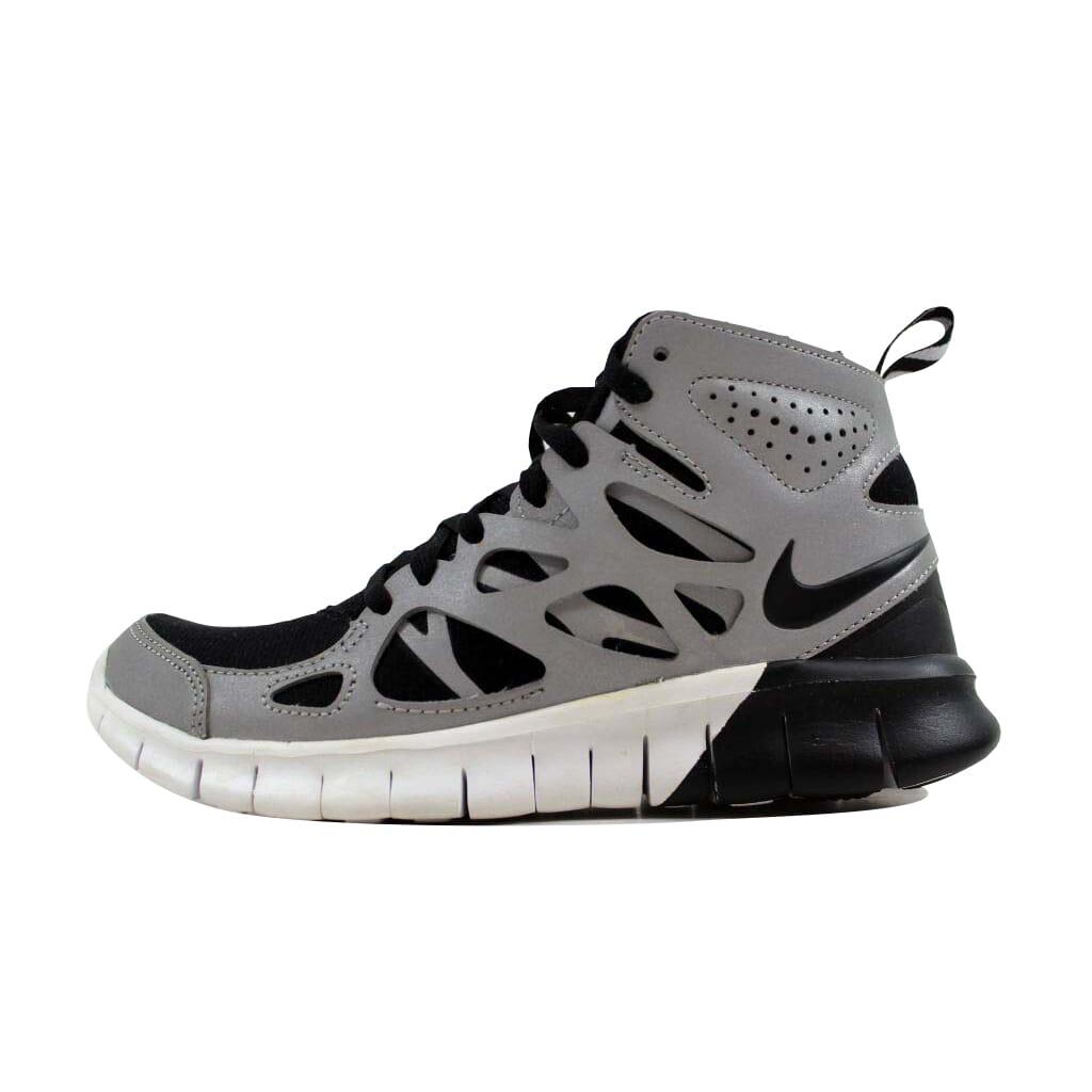 low priced c24a0 c9388 Nike Free Run 2 Sneakerboot Premium BlackBlack-Metallic Silver-White  Womens 616728-001 Size 5.5 Medium
