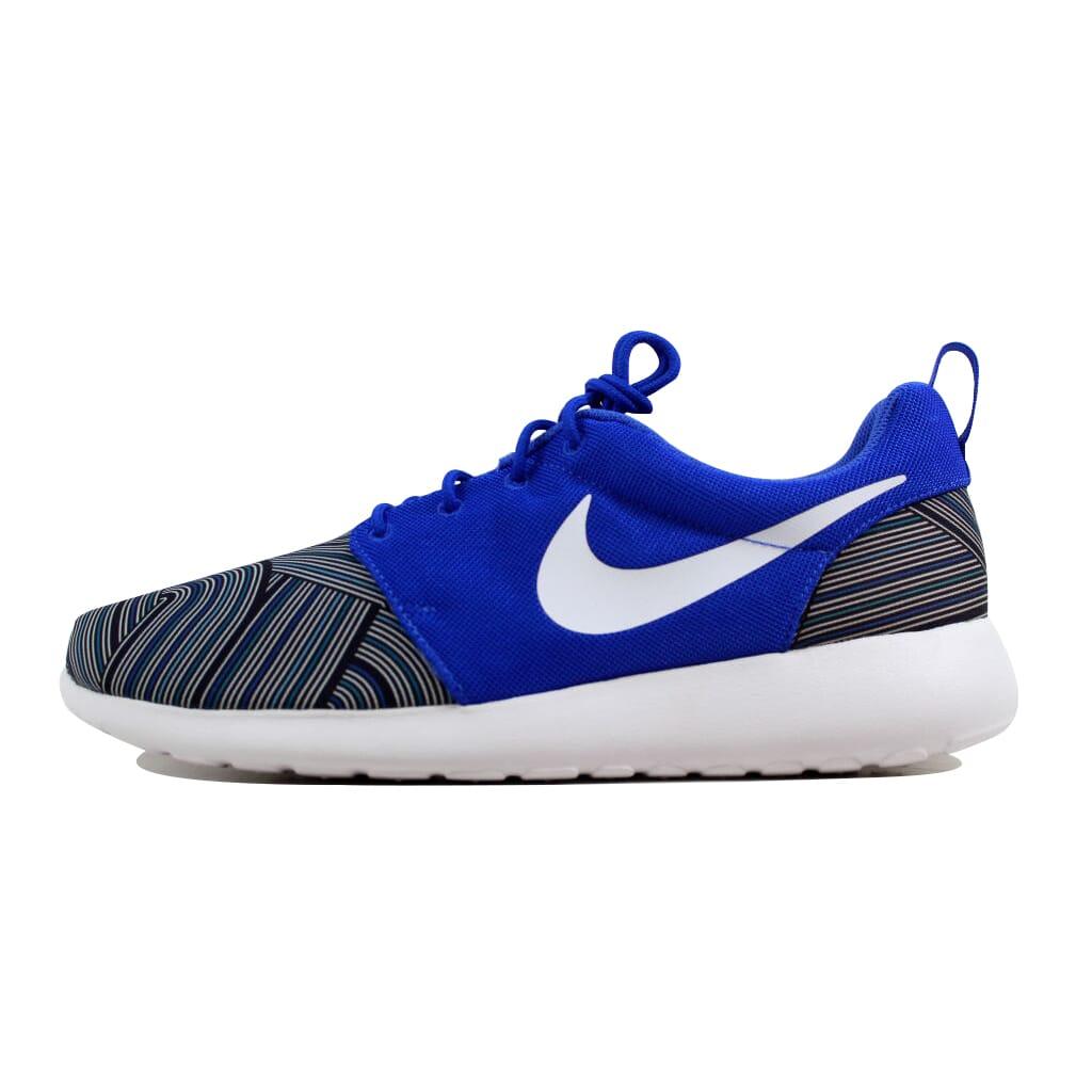 Nike Roshe One Print Racer Blue White-Blue Grey-Blue Lagoon 655206-416 SZ 11 2728b2e9e873