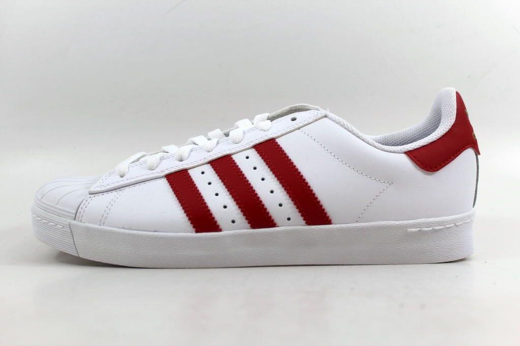 adidas - superstar vulc adv - adidas blanc / rouge écarlate or cq métallique 7aa8da