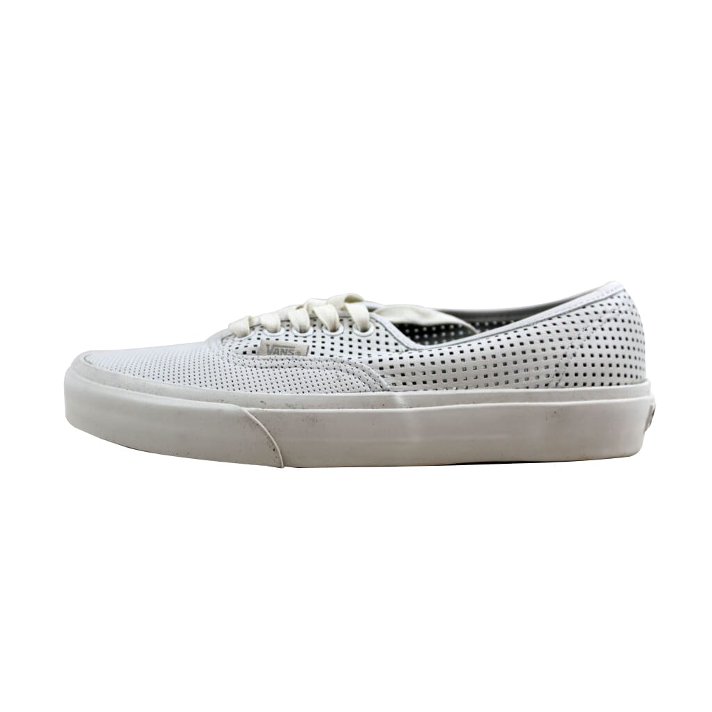 Vans Authentic DX Square Perf White VN0A38ESMSH Men s Size 4.5 746458f9c