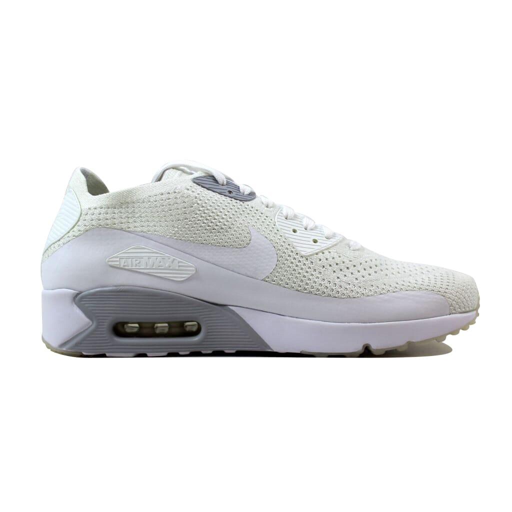 Nike Air Max 90 Ultra 2.0 Flyknit White White-Pure Platinum 875943 ... a39e8aaf3