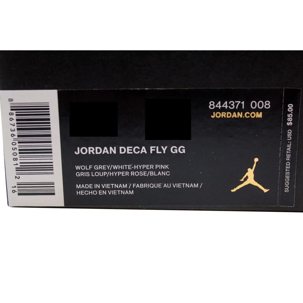 Nike Air Jordan Deca Fly GG Wolf Grey White-Hyper Pink 844371-008 GS ... 88790928a