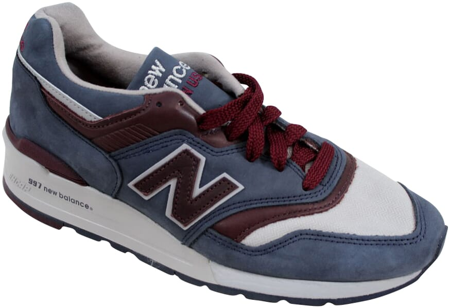 New Balance 997 Grey Maroon Horween Leather M997DGM Men s SZ 8.5 ... d497abf9d363