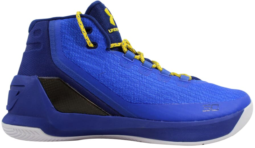 Under Armour Curry 3 Dub Nation Heritage Royal Taxi Yellow 1269279 ... 8b1cf855feeb