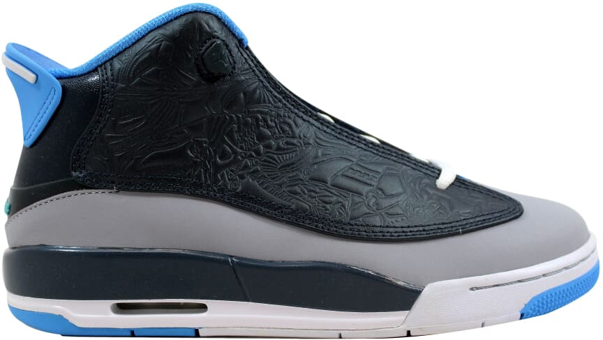 766bc499e20720 Nike Air Jordan Dub Zero Wolf Grey Blue-Classic Charcoal 311047-007 ...