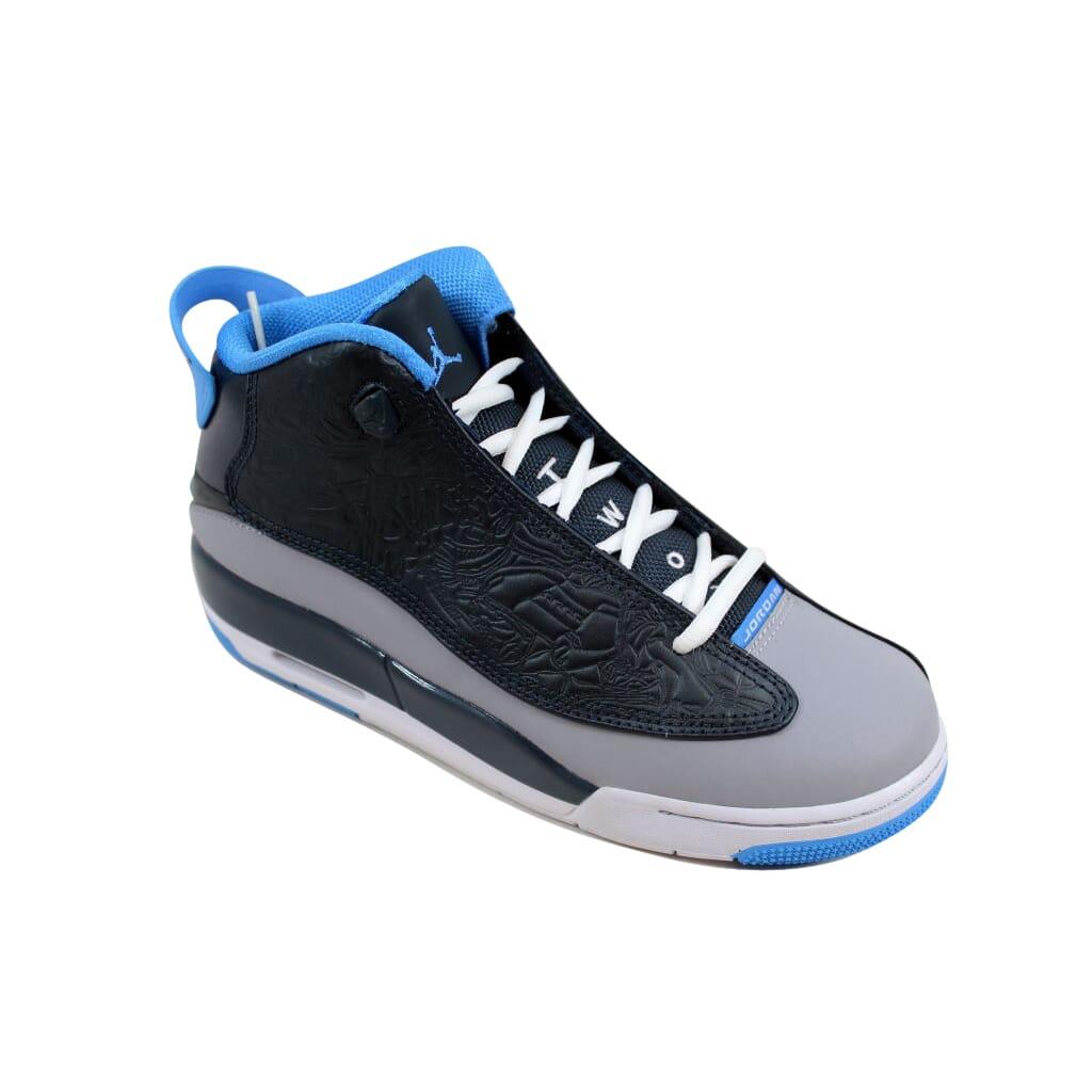 0a8261ac8a85 Nike Air Jordan Dub Zero Wolf Grey University Blue-Charcoal 311047 ...