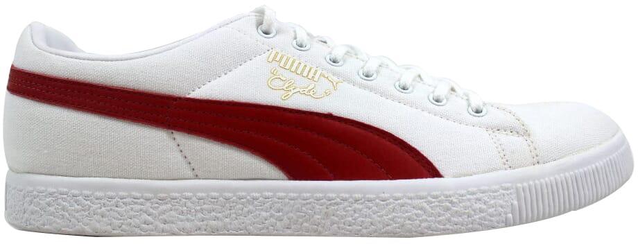quality design 9d31e a2510 Details about Puma Clyde X UNDFTD Canvas White/Ribbon Red 352768 01 Men's  SZ 12