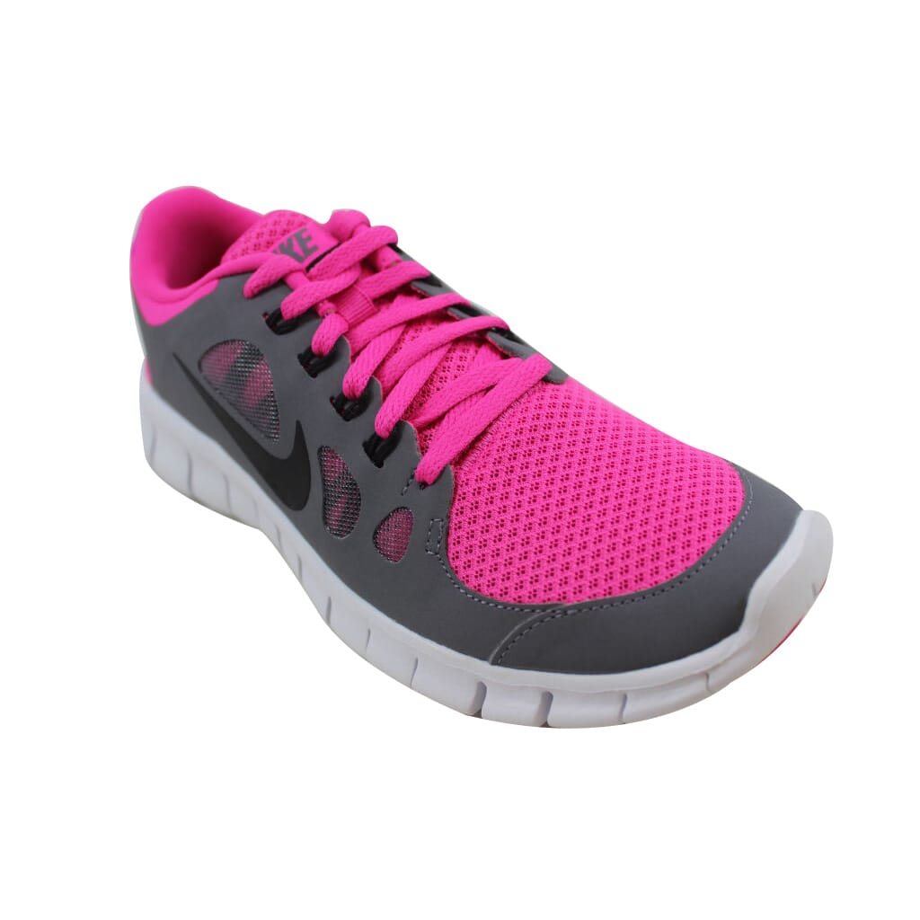 cd62747a5c04 Nike Free 5.0 Pink Foil Black-Cool Grey-White 580565-601 Grade ...