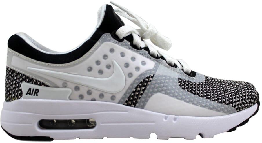 Nike air max zero essenziale grigio nero / lupo bianco grigio essenziale 876070-005 uomini sz 6,5 1ffab9