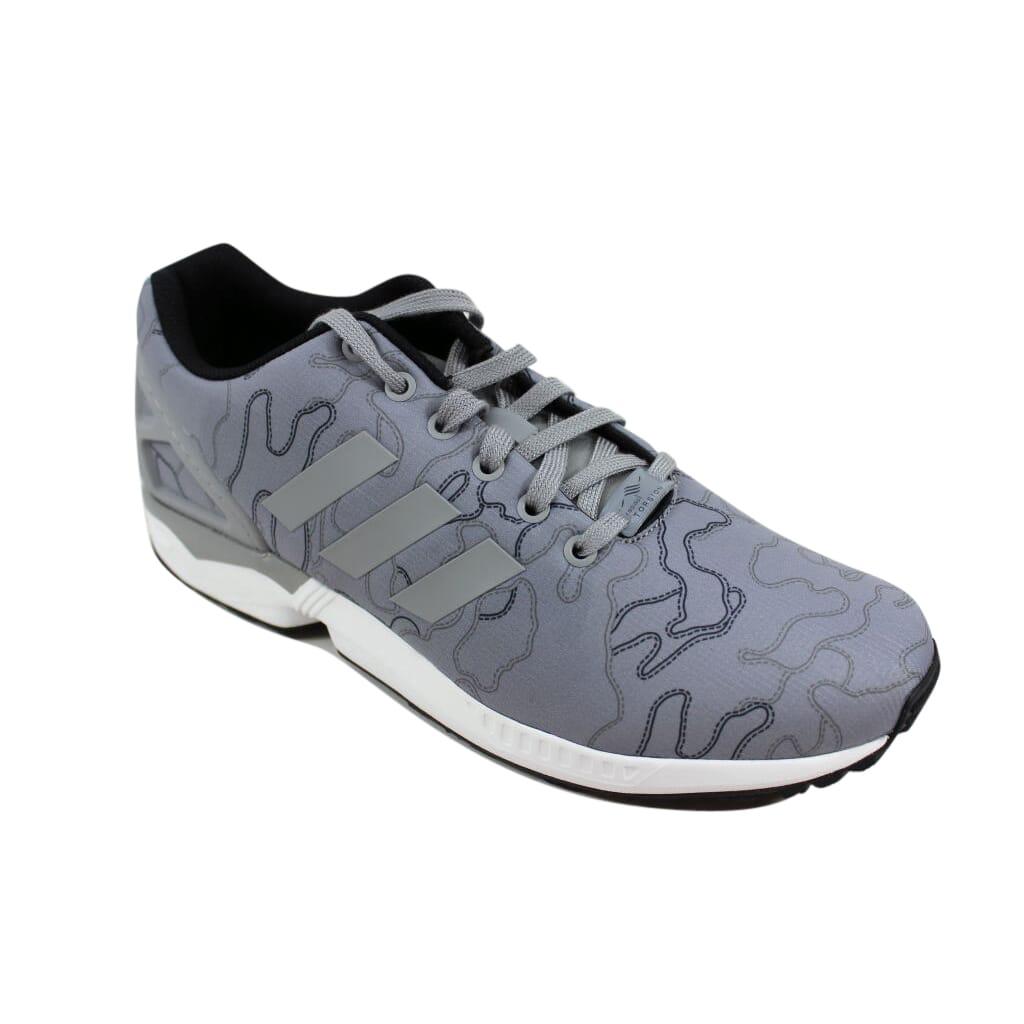 aa78d782372e7 Adidas ZX Flux Charcoal Grey White AQ4903 Men s SZ 10 889130350137 ...