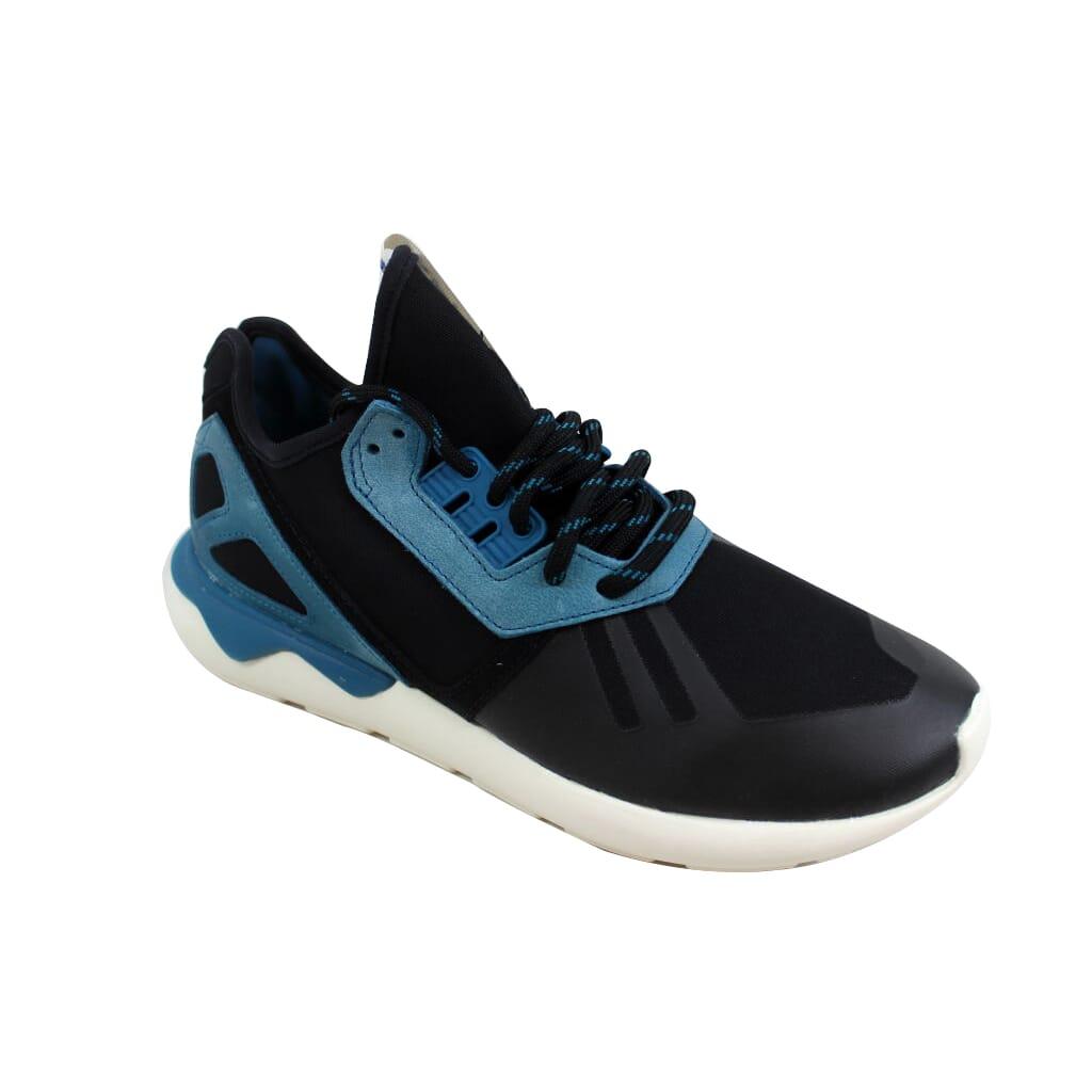 timeless design 28f83 3479a Details about Adidas Tubular Runner Black Blue-White M19644 Men s SZ 13