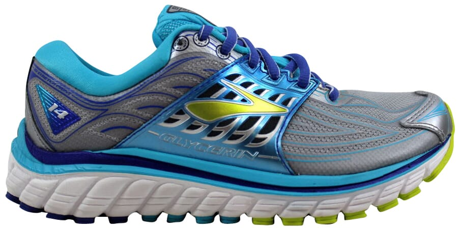 73393d2c0932 Brooks Glycerin 14 Silver Blue Atoll-Lime Punch 120217 1B 151 ...