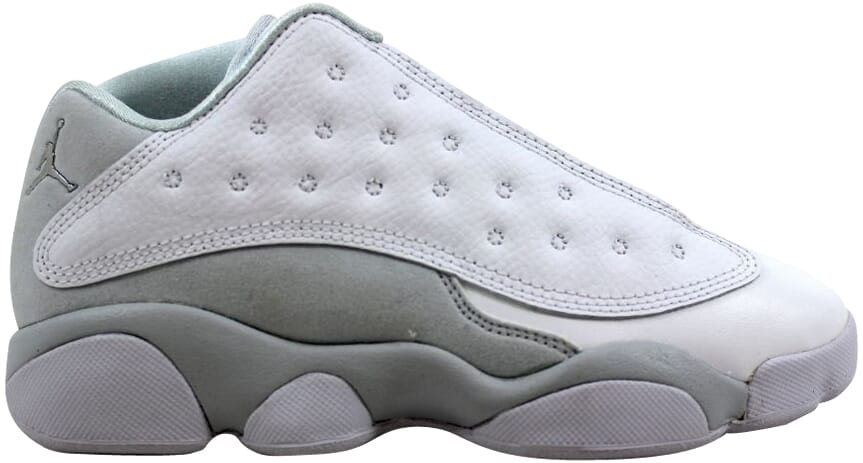 ed1f105630f7f5 Nike Air Jordan XIII 13 Retro Low BP White Silver Pure Money 310812 ...