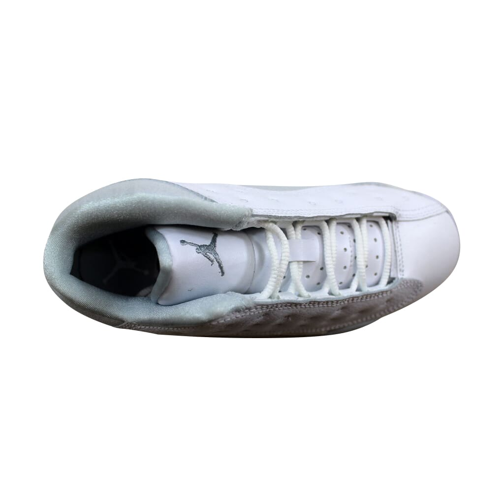 eafb6dbb93787 Nike Air Jordan XIII 13 Retro Low BP White Silver Pure Money 310812 ...