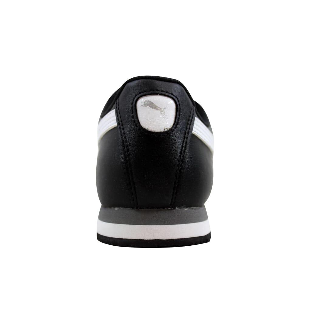 773daf77d66961 Puma Roma Basic Jr Black White-Puma Silver 354259 01 Grade-School Size 5.5Y