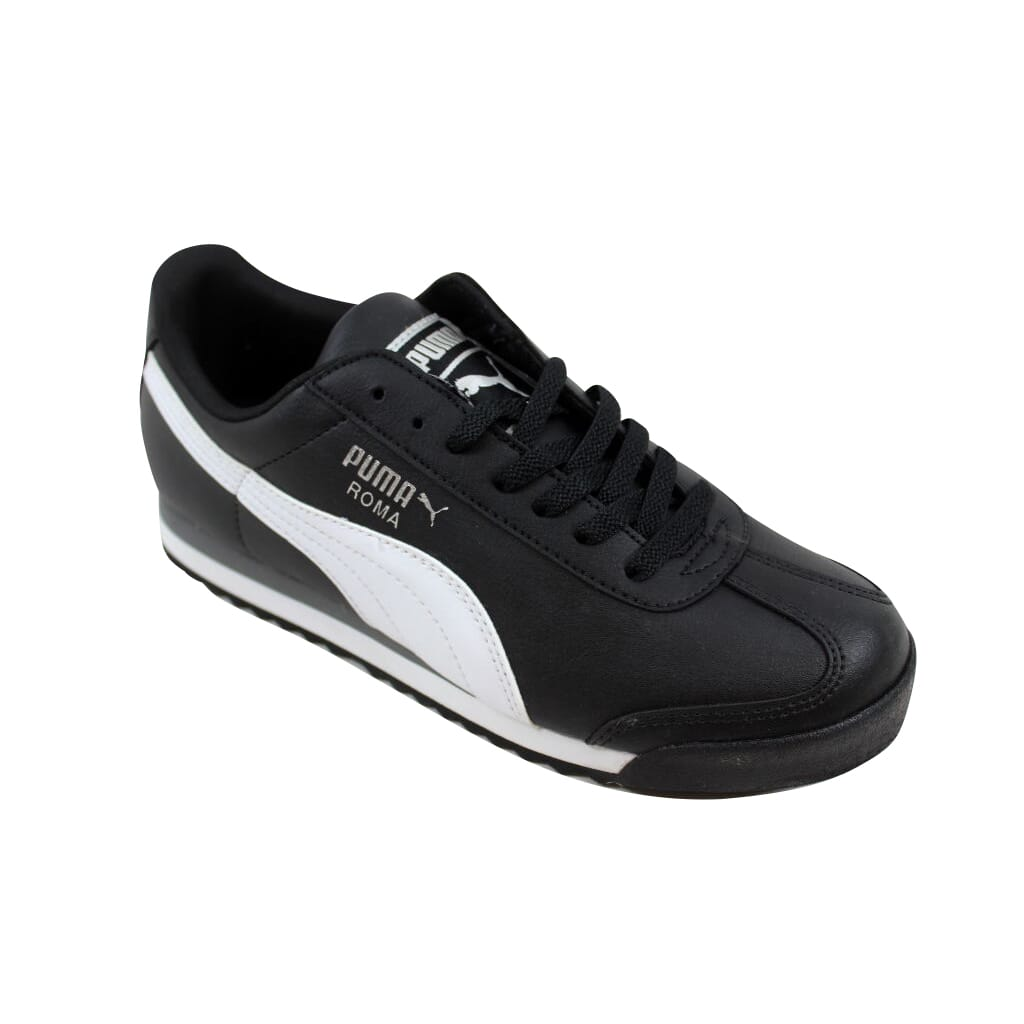e3118c62548968 Puma Roma Basic Jr Black White-Puma Silver 354259 01 Grade-School SZ ...