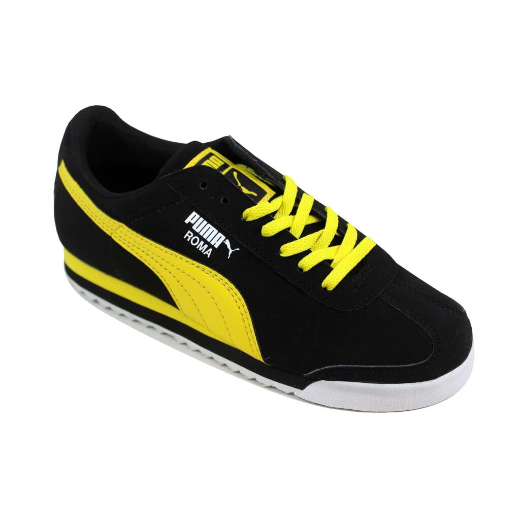info for ae1ab 0e3c5 Puma Roma SL NBK JR Black/Vibrant Yellow-White 356349 04 Grade ...