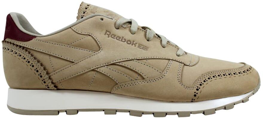 d23452f09f2ed Reebok Classic Leather Lux Horween Sandstone Merlot-Chalk AQ9963 ...