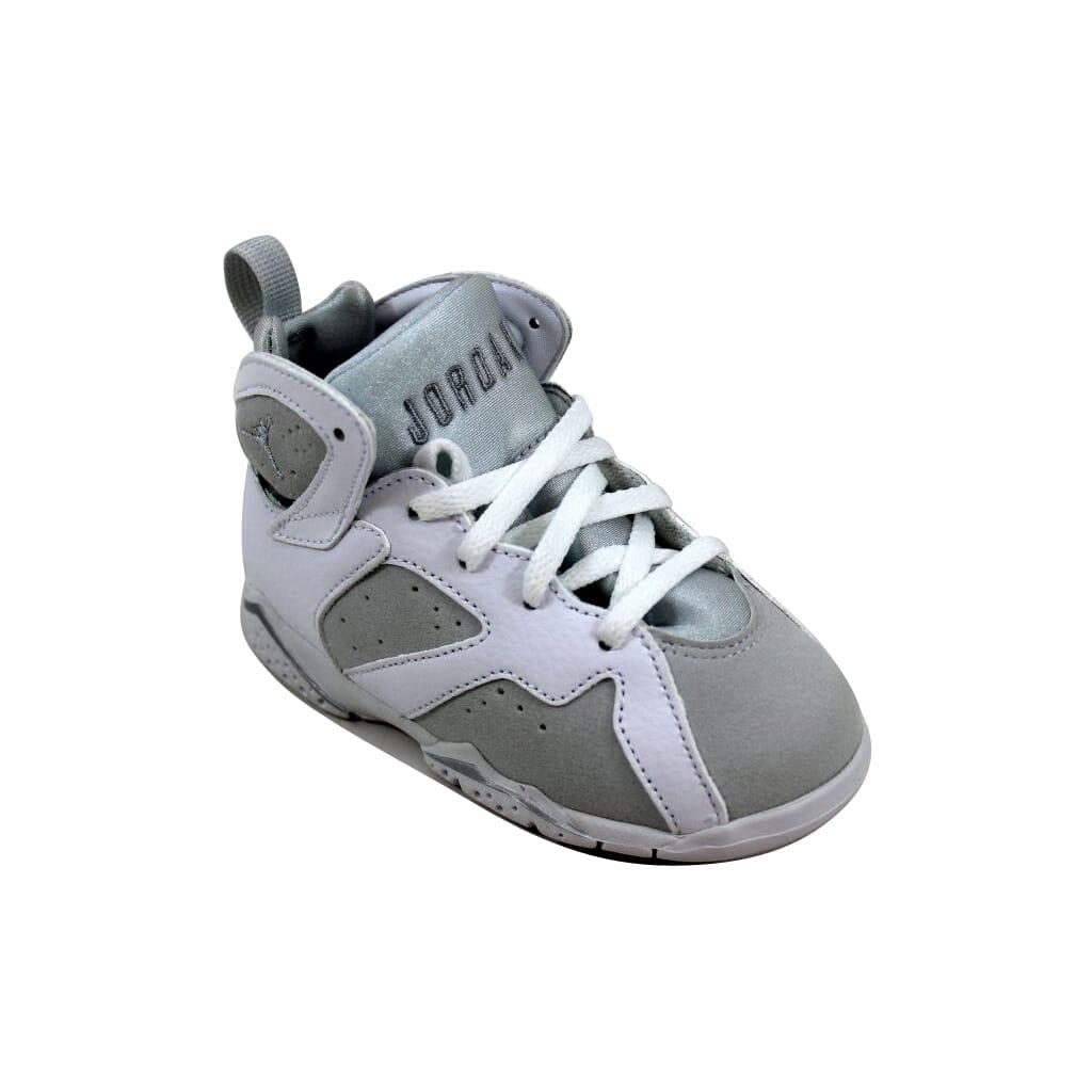 e8cf82f0d32 Nike Air Jordan VII 7 Retro BT White/Silver Pure Money 304772-120 ...