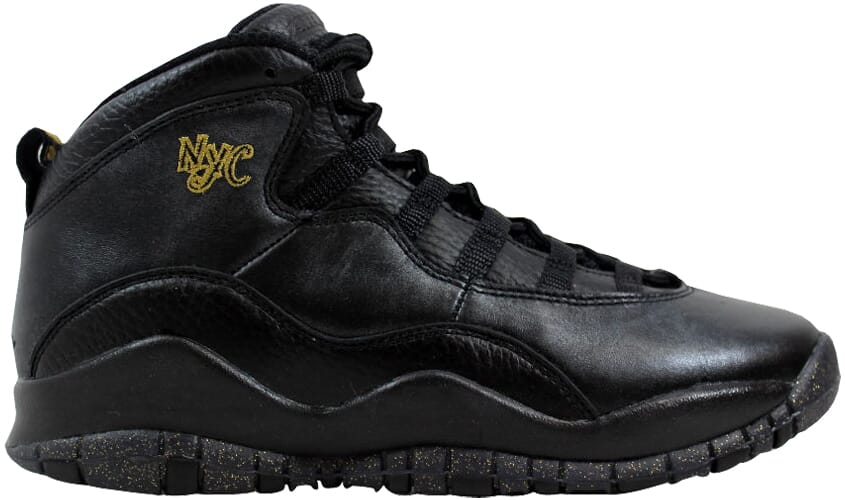 74659cbeddc64 Nike Air Jordan X 10 Retro BG Black Grey-Metallic Gold NYC 310806 ...