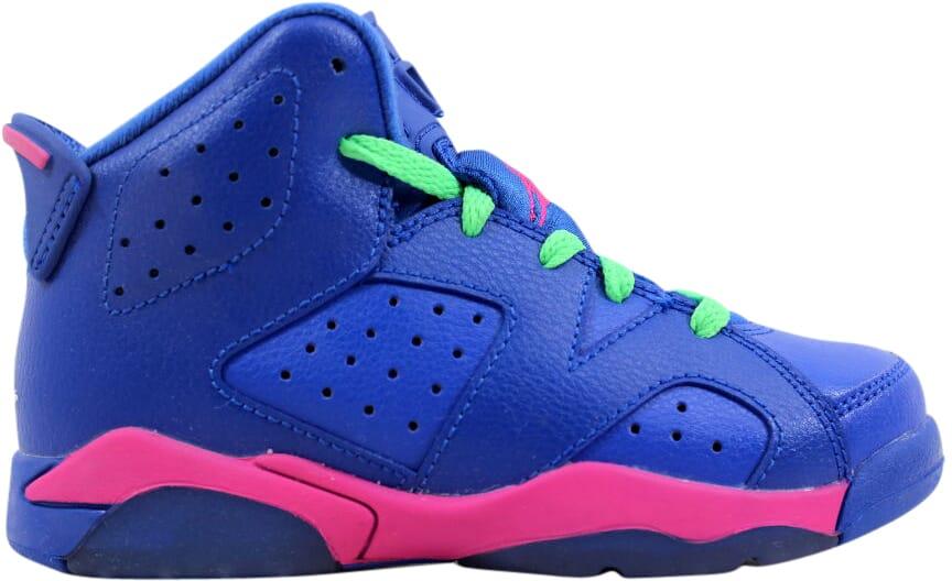 38147c8e94682a Nike Air Jordan VI 6 Retro GP Game Royal White-Pink-Green 543389-439 ...