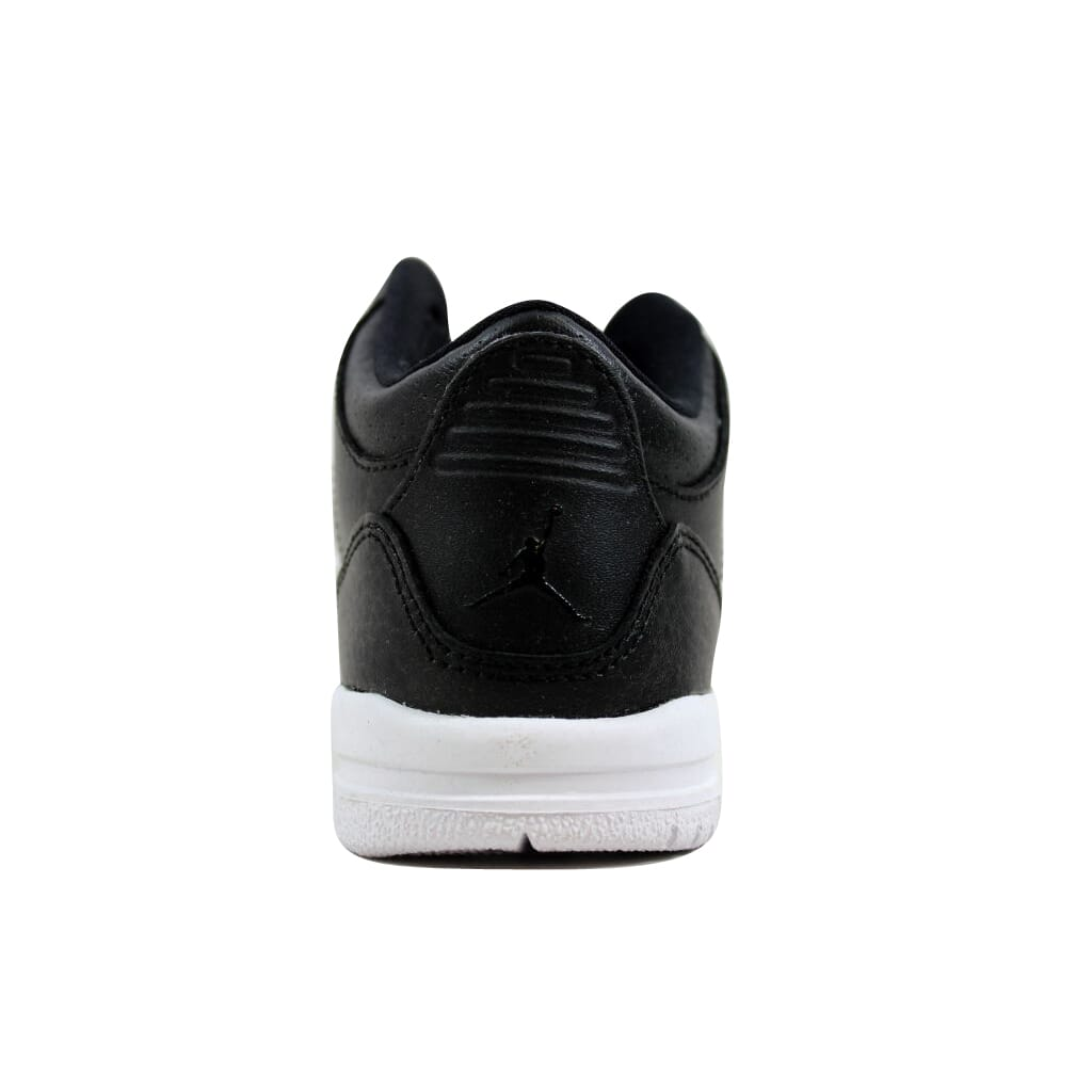 the latest f24e7 8b281 Nike Air Jordan III 3 Retro BT Black Black-White 832033-020 Toddler Size 10C