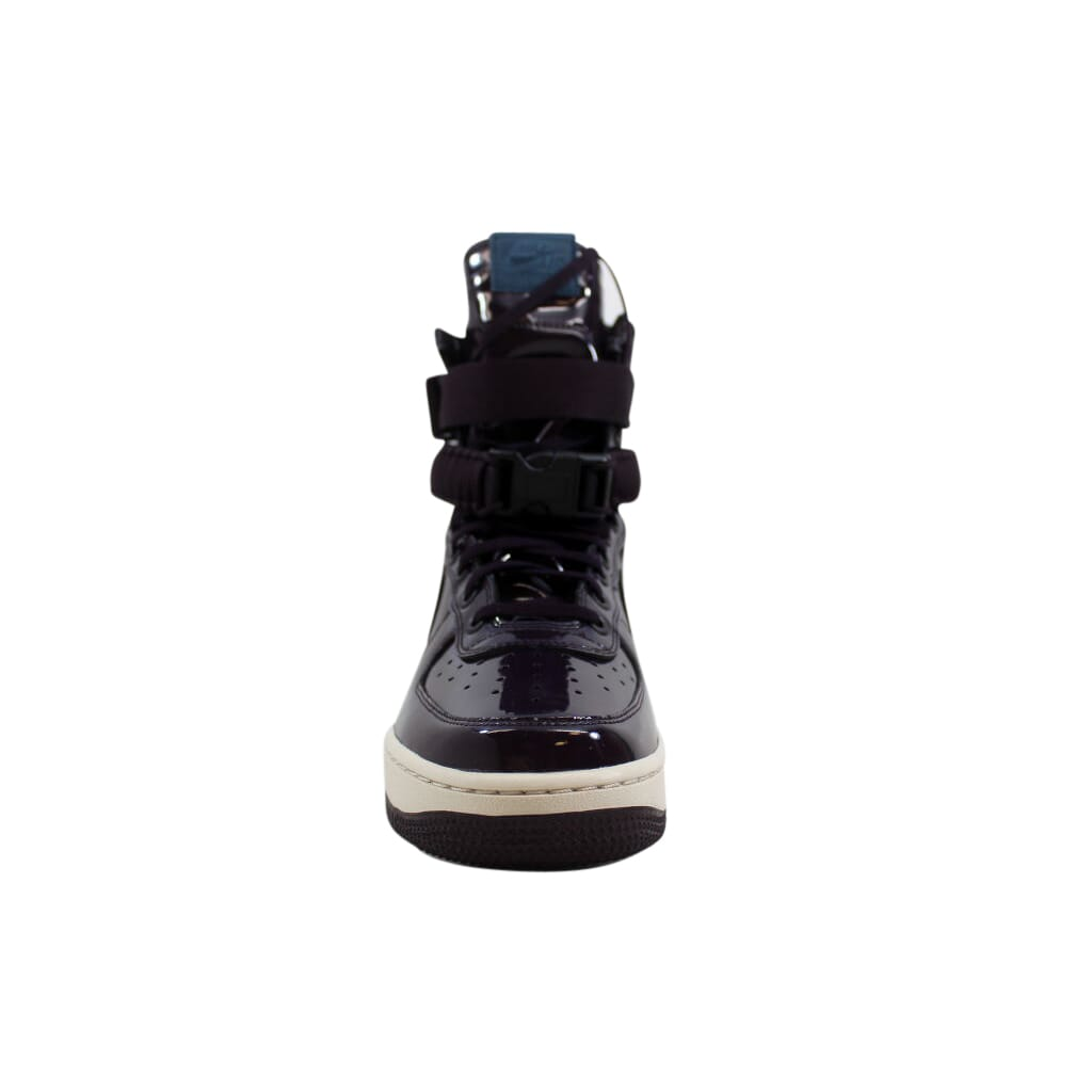 23f4ad4ee3a0 Nike SF AF1 Air Force 1 SE Premium Port Wine Space Blue AJ0963-600 ...