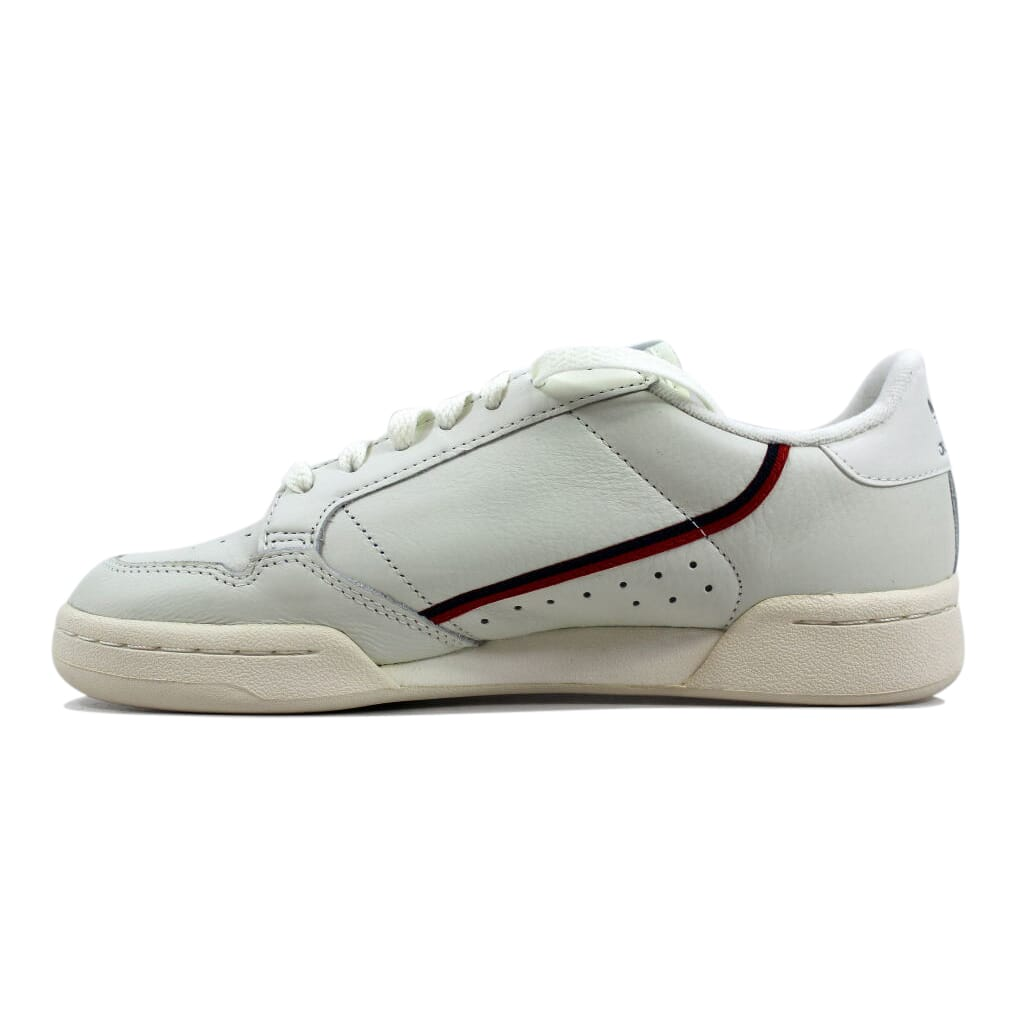 75acc2f6b3847c Adidas Continental 80 White Tint Off White-Scarlet Red B41680 Men s ...